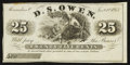Obsoletes By State:Ohio, Alexandria, OH- D.S. Owen 25¢ Jan. 1, 1863 Remainder Wolka 0046-03....