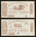 Obsoletes By State:Ohio, Bolivar, OH- Unknown Issuer 5¢; 50¢ Jan. 1, 1863 Remainders Wolka0190-01; -05. ... (Total: 2 notes)