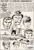 "Original Comic Art:Splash Pages, Dick Ayers and Steve Ditko Sgt. Fury #15 ""Too Small to Fight, Too Young to Die"" Splash Page 1 Original Art (Marvel..."