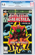 Modern Age (1980-Present):Science Fiction, Battlestar Galactica #23 (Marvel, 1981) CGC NM/MT 9.8 Whitepages....