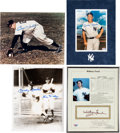 Autographs:Others, Circa 1980 Mickey Mantle, Whitey Ford, Billy Martin & BillDickey Signed Photographs Lot of 4. ...