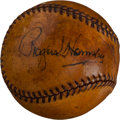 Autographs:Baseballs, 1944 Rogers Hornsby Single Signed Baseball....