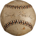 Autographs:Baseballs, Early 1920's Frankie Frisch Single Signed Baseball. ...