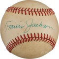 Autographs:Baseballs, Circa 1980 Travis Jackson Single Signed Baseball. ...