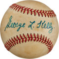 Autographs:Baseballs, Circa 1980 George Kelly Single Signed Baseball...