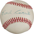 Autographs:Baseballs, Circa 1980 Earl Averill Single Signed Baseball. ...