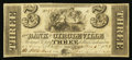 Obsoletes By State:Ohio, Circleville, OH- The Bank of Circleville (The Second) $3 Mar. 1st,1841 G6 Wolka 0670-03. ...