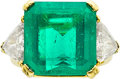 Estate Jewelry:Rings, Colombian Emerald, Diamond, Gold Ring, Kurt Wayne. ...