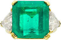 Colombian Emerald, Diamond, Gold Ring, Kurt Wayne