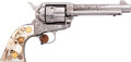 Handguns:Single Action Revolver, Rare Factory Engraved Colt Single Action Revolver Shipped to SanAntonio with Factory Carved Steer Head Pearl Grips....
