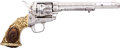 """Handguns:Single Action Revolver, Fine Nimschke-Style Engraved Colt Single Action Army Revolver With """"Tiffany"""" Grips Shipped in 1876 and Pictured in """"Colt Pisto..."""