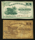 Obsoletes By State:Ohio, Chardon, OH- Wilkins & Kelly 5¢; 5¢ Remainder 1862 Wolka0329-02; -03. ... (Total: 2 notes)