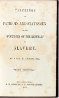 "Books:Americana & American History, [Slavery]. Ezra Chase. Teachings of Patriots and Statesmen.Or the ""Founders of the Republic"" on Slavery. Philad..."