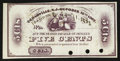 Obsoletes By State:Ohio, Bolivar, OH- Unknown Issuer 5¢ Jan. 1, 1863 Remainder Wolka0190-02. ...