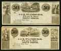 Obsoletes By State:Ohio, Chillicothe, OH- J. & H. M'Landburgh 50¢ (2) Remainders Wolka0353-04; -05. ... (Total: 2 notes)