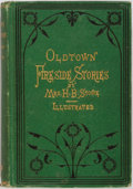 Books:Americana & American History, Harriet Beecher Stowe. Oldtown Fireside Stories. Boston:Osgood, 1872. Illustrated. First edition. Publisher's green...