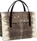 Luxury Accessories:Bags, Alaia Natural Ring Lizard Small Tote Bag. ...