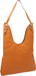 Luxury Accessories:Bags, Hermes Gold Clemence Leather Massai GM Shoulder Bag with PalladiumHardware. ...