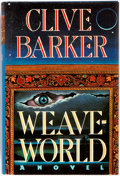 Books:Science Fiction & Fantasy, Clive Barker. SIGNED. Weaveworld. Poseidon Press, 1987. First edition, first printing. Signed by Barker on title p...