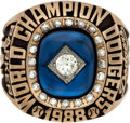 Baseball Collectibles:Others, 1988 Los Angeles Dodgers World Series Championship Ring Presentedto Wes Parker....