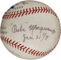 Autographs:Baseballs, 1971 Rube Marquard Single Signed Baseball. ...