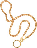 Luxury Accessories:Accessories, Chanel Gold Double Chain Rope Necklace with Magnifying Glass. ...