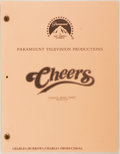 Entertainment Collectibles:TV & Radio, [Production Script]. Cheers. Shooting script for secondseason episode, Coachie Makes Three, written b...