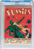 Golden Age (1938-1955):Science Fiction, The Funnies #35 (Dell, 1939) CGC GD+ 2.5 Cream to off-whitepages....