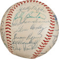 Autographs:Baseballs, 1958 Milwaukee Braves Team Signed Baseball. ...