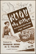 "Movie Posters:Documentary, Kliou the Killer (DuWorld, R-1950s). One Sheet (27"" X 41""). Documentary.. ..."