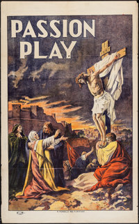 "The Passion Play (N. Morgillo, R-1908). One Sheet (27.5"" X 44""). Drama"