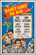 "Movie Posters:Comedy, Nancy Goes to Rio (MGM, 1950). One Sheet (27"" X 41""). Comedy.. ..."