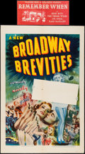 "Movie Posters:Documentary, Broadway Brevities (Vitagraph, 1940). Stock One Sheet (27"" X 41"") & Title Snipe (7.75"" X 16.75""). Documentary.. ... (Total: 2 Items)"