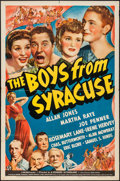 """Movie Posters:Comedy, The Boys from Syracuse (Universal, 1940). One Sheet (27"""" X 41"""") Style C. Comedy.. ..."""