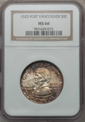Commemorative Silver, 1925 50C Vancouver MS66 NGC....