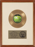 "Music Memorabilia:Awards, Ringo Starr ""It Don't Come Easy"" RIAA Gold Record Award (Apple1831, 1971)...."