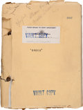 "Movie/TV Memorabilia:Documents, A Script from ""Greed.""..."