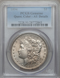 1894 $1 -- Questionable Color -- Genuine PCGS. AU Details....(PCGS# 7228)