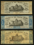 Obsoletes By State:Ohio, Cincinnati, OH- The Burnet House 5¢ Remainder; 5¢; 10¢1862-63 Wolka0401-01 (2); -02. ... (Total: 3 notes)