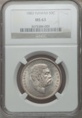 Coins of Hawaii, 1883 50C Hawaii Half Dollar MS63 NGC....