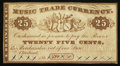 "Obsoletes By State:Ohio, Cleveland, OH- S. Brainard & Co. ""Music Trade Currency"" 25¢Remainder Wolka 0708-01. ..."