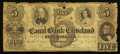 Obsoletes By State:Ohio, Cleveland, OH- The Canal Bank of Cleveland $5 Jan. 1, 1854 G8 Wolka0710-11. ...
