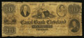 Obsoletes By State:Ohio, Cleveland, OH- The Canal Bank of Cleveland Raised $1 Faded R5 Wolka0710-16. ...