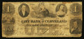 Obsoletes By State:Ohio, Cleveland, OH- The City Bank of Cleveland $1 Nov. 1, 1864 Wolka0712-03. ...