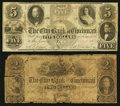 Obsoletes By State:Ohio, Cincinnati, OH- The City Bank of Cincinnati $2; $5 May 1, 1854 UNL;G8a Wolka 0423-05; -13. ... (Total: 2 notes)