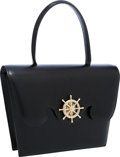 Luxury Accessories:Bags, Hermes Black Calf Box Leather Sac Fregate Bag with Gold Hardware ....