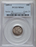 Barber Dimes: , 1899-S 10C MS64 PCGS. PCGS Population (30/25). NGC Census: (13/8).Mintage: 1,867,493. Numismedia Wsl. Price for problem fr...