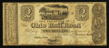 Obsoletes By State:Ohio, Ohio City, OH- The Ohio Rail Road, Payable at Cleveland $2 June 1,1840 Wolka Unlisted. ...