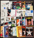 Basketball Collectibles:Programs, 1970's and 1980's Boxing Programs and Promotional Packets Lot of50+....