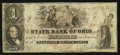 Obsoletes By State:Ohio, Cadiz, OH- The State Bank of Ohio, Harrison Branch Counterfeit $1Aug. 9, 1858 C152 Wolka 0252-05. ...